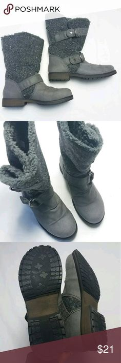 Gray Middle Calf Slouchy Boots NWOT Super Soft! Size: 6 Color: Gray Condition/Description:  Never Worn, new without tags or box See pics for exact details  Approximate Measurements: Heel up to shaft: 10.5 Shoes Winter & Rain Boots