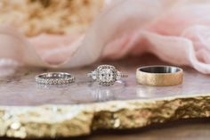 Actual rings that will be used during our styled shoot before the Fiance Soiree