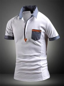 White Shaping Print Cotton Polo Shirt for Men Polo Vest, Polo Rugby Shirt, Polo T Shirts, Polo Shirt Style, Polo Shirt Design, Camisa Polo, Male T Shirt, African Men Fashion, Mens Tees