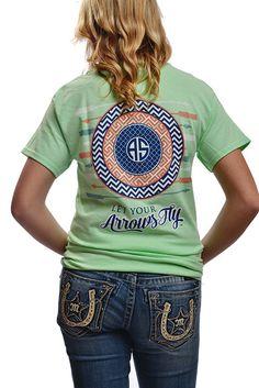 Southern Mint Archery Shirt by ArcherySquad on Etsy