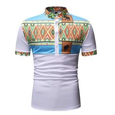 RDHOPE-Men Casual Leisure Fashion Floral Printed Long Sleeve Button Shirts