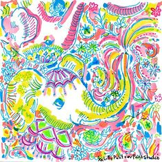 """Lilly Pulitzer on Instagram: """"Don't stop the parrrrtaaaayy. We're giving away printed presents all weekend long. Both in stores & online. Link in profile to shop.…"""" Lilly Pulitzer Patterns, Lilly Pulitzer Prints, Lily Pulitzer, All About Elephants, Tropical Vibes, Cool Art, Print Patterns, Illustration Art, Drawings"""