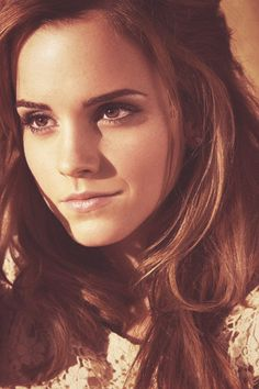 emma watson.  I used to be told I looked like her.... Sadly I don't think it's true anymore!