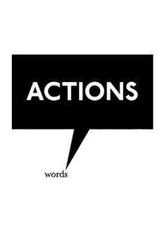 Get it? speak louder than words. What are your actions saying about your life purpose, your needs and wants? I hope it says...this is my time and I choose to make healing a priority.