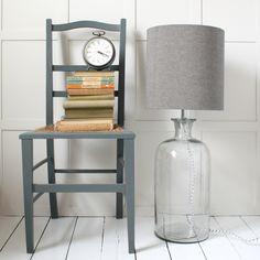 Large Glass Bottle Floor Lamp