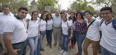 El gobernador Javier Duarte de Ochoa, durante la inauguración de la Cumbre Tajín 2015, convivió con los turistas y visitantes.