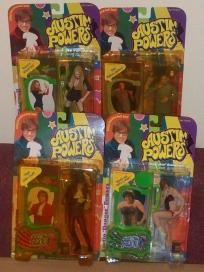 1999 McFarlane Toys Austin Powers Ultra Cool Action Figure Lot- Shagwell Evil + 2 Austins