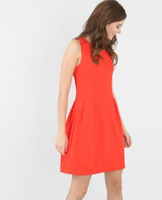 Robe patineuse orange