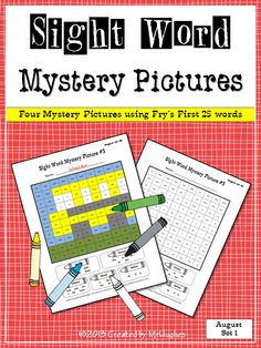 SIGHT WORD MYSTERY PICTURES AUGUST SET #1: Get ready to have your students BEGGING to practice their sight words. With the easy to understand format and the included color answer keys, these practice pages will be one of the easiest activities you use all year.  Each of the four pictures includes the first 25 words from Fry's Instant Word List, making this the perfect set for the beginning of the year (or review for your more advanced readers). ($)