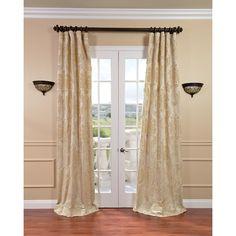 Exclusive Fabrics Magdelena Champagne (Beige) Faux Silk Jacquard Curtain Panel (50W x 120L)