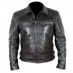 Terminator Genisys T5. Black cowhide biker leather jacket