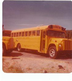 Buncombe County Schools (North Carolina Public Schools) 234 - 1974 Carpenter International - Retired; Bus yard - Woodfin, North Carolina Old School Bus, School Buses, Public School, Retro Bus, Bus City, County Schools, Vintage School, International Harvester, Busses