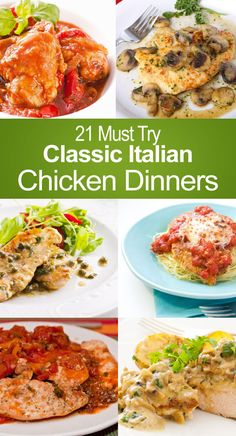 21 Must Try Classic Italian Chicken Dinner Recipes