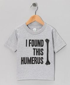 Take a look at this Athletic Heather 'Humerus' Tee - Toddler & Kids by KidTeeZ on #zulily today! $10 !!