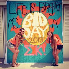 Life is Brighter as a Sigma Kappa #SigmaKappa #BidDay #banner #sorority