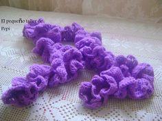 Bufanda en espiral lila