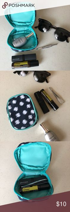 New Arrival 💧 Small Case Navy Blue Doodle NWT Navy Small Case by Thirty One 💧Keep Accessories, Earrings, Lipstick and other must haves with you at all times 💧Bundle and Save💧 Reasonable Offers Welcomed *** Other Items are not included! Shown for size and practical purpose illustration only *** Bags