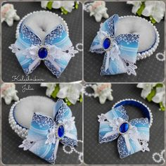 image (492×492) Ribbon Hair Bows, Girl Hair Bows, Fabric Ribbon, Girls Bows, Girls Hair Accessories, Handmade Accessories, Felt Flowers, Fabric Flowers, Bun Wrap