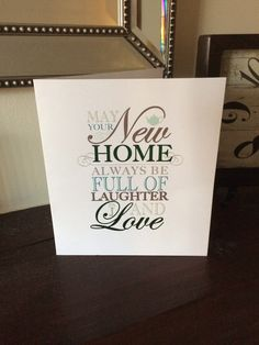 New home card - nice sentiment