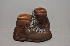 Vintage 70s Lowa Hiking mountain trail boots made in Germany men's 9.5 D #Lowa #HikingTrail