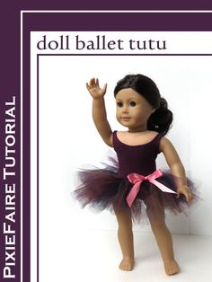 "Make a fast and easy tutu for your 18"" doll; free ballerina craft tutorial on PixieFaire.com! pixie fair craft blog post"