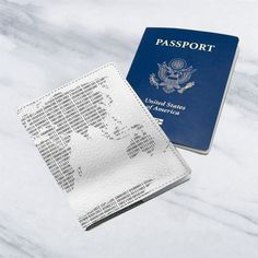 Letters Stamps Leather Business ID Passport Holder Protector Cover /_SUPERTRAMPshop