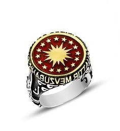 Opening Sale Sterling Silver and Bronze Men Ring Star | eBay