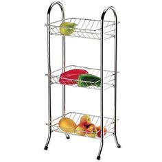 Fruteira com 3 Cestos Cromados Utimil -Utilidades domésticas - Fruteiras - Walmart.com