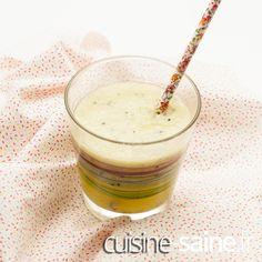 Recette sans gluten     Recette vegan     Recette bio smoothie kiwi