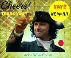 Aidan Turner has WON!! You guys got him to be the Radio Times Drama Champ of 2015!! FABULOUS WORK!! We could not have done it without you! xoxox