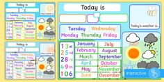 This interactive Flipchart allows your children to practise the date and weather each day. Pick a background to match your current theme, choose the correct date and use the weather symbols to signifying the weather for that day - fab! Calendar Activities, Eyfs Activities, Graphing Activities, Weather Activities, Interactive Activities, Eyfs Classroom, Classroom Calendar, Classroom Displays, Weather For Kids