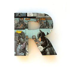 Batman Comic Book Door Sign Mounted Lettering Custom Home Decoration Wall Decal Decor Ornament Boys Bedroom. £7.00, via Etsy.