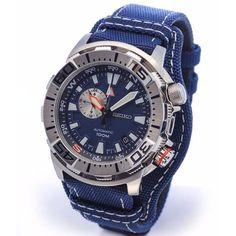 Seiko Superior Blue Nylon Automatic 100m Sports Watch SSA053K1 SSA053K SSA053 on Carousell