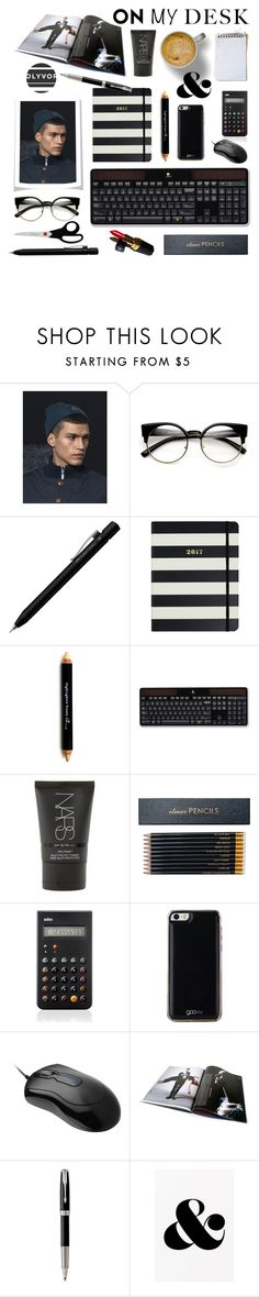 """What's on My Desk?"" by lacas ❤ liked on Polyvore featuring interior, interiors, interior design, home, home decor, interior decorating, Jack & Jones, ZeroUV, Faber-Castell and Kate Spade"