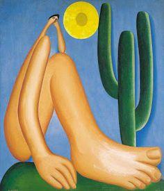 "Tarsila do Amaral: ""Abaporu"". Ano: 1928. Local: Museu de arte latino-americana de Buenos Aires (MALBA)."