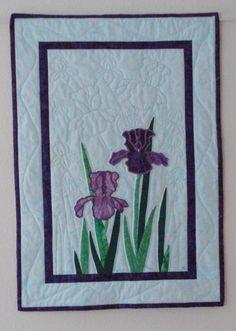 Iris Fiber Art Quilt by MurphysHouse on Etsy, $250.00