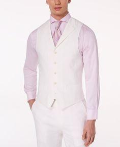 Sean John Men White Fit 5 Button Linen Suit Jacket Vest Waistcoat Medium for sale online White Linen Suit, White Suits, Suit Vest, Vest Jacket, White Vest Mens, Mexican Outfit, Tuxedo For Men, Unisex Baby Clothes, Suit Separates