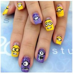 Despicable me nails ♥