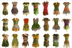 The dresses were tailor made for 21 individuals who completed a questionnaire about sustainable fashion and provided plant materials from their gardens.