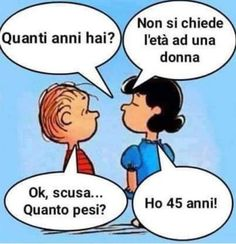 Charlie Brown Emoticons How Old Are You? Cute Quotes, Words Quotes, Funny Quotes, Funny Images, Funny Pictures, Italian Vocabulary, Lucy Van Pelt, Italian Humor, Snoopy Quotes