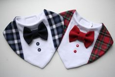 Baby bib boy, Baptism bib, shirt bow tie bib removable bow tie, baby shower gift for newborn, infant blue plaid Diy Baby Bibs No Sew, Baby Boy Bibs, Diy Baby Gifts, Diy Gifts For Kids, Boy Dog Clothes, Baby Boy Baptism Outfit, Dog Collar Boy, Dog Clothes Patterns, Baby Sewing Projects
