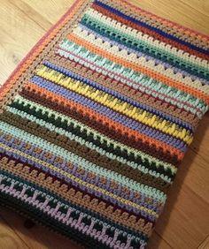 Little Leftovers Blanket - Create & Make & Mend Crochet Blanket Patterns, Crochet Stitches, Knit Crochet, Crochet Afghans, Crochet Projects, Craft Projects, Crochet Ideas, Knitted Blankets, Crochet Throws