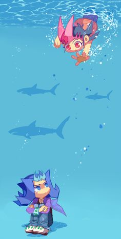Yugioh - Yuma and Shark
