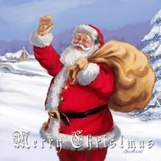 Merry Christmas Santa Claus GIF - Tenor GIF Keyboard - Bring Personality To Your Conversations Merry Christmas Images, Merry Christmas Santa, Christmas Scenes, Father Christmas, Merry Christmas And Happy New Year, Vintage Christmas Cards, Christmas Pictures, Christmas Art, Christmas Greetings