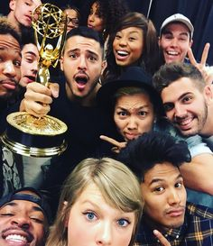 """Taylor Swift on Instagram: """"If you need us, we'll be taking selfies with the Emmy ALL DAY."""""""