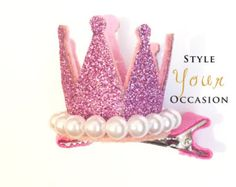 2X Crown tiara princess hair clips crown clip от StyleYourOccasion