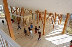 Completed in 2014 in Chiba, Japan. This nursery school in Sakura, Chiba was planned to accommodate 60 pupils. Seiyu-Kai, a local social welfare firm specializing in elderly care. Architecture Images, Japanese Architecture, School Architecture, Contemporary Architecture, Architecture Details, Architecture Interiors, Japan Design, 21st Century Schools, Archdaily Mexico