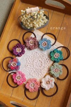 crochet hairclips