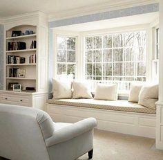 gemütliche fenstersitze und erkerfenster weisse ausstattung