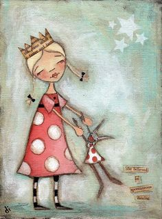 Print of My original folk art painting - She Believed in Spontaneous Dancing Kunstjournal Inspiration, Art Journal Inspiration, Art And Illustration, Whimsical Art, Medium Art, Mixed Media Art, Folk Art, Art Projects, Artsy